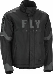 New Fly Racing Outpost snowmobile Cold Weather Jacket SM-3X Black/Grey
