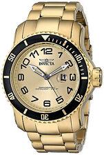 Invicta Gold Oro Bracelet Pulsera Hombre Man Crystal Gunmetal Hand Wrist Reloj