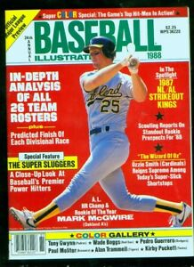 1988 Baseball Illustrated - Mark McGwire, Oakland A's (HIGH GRADE!)