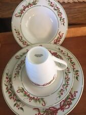 American Atelier Holly & Berry Dinnerware Set for 8. 32 Piece