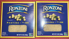 New listing 2 Boxes Ronzoni Pastina Macaroni 12 Oz Each Exp. 7/ 23