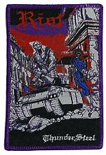 More details for riot - thunder steel - woven patch sew on rare aufnäher écusson heavy metal