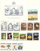 1981 San Marino Annata Completa Nuovi Come Unificato 18 Valori + 1 Bf Integri