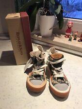 Replay & Sons Sneaker Camouflage Grün Orange 2x Schnürsenkel 32 -NEU mit Fehler