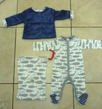 Boden Mini Romper Playsuit & Reversible Jacket Pack Age 3-6 Months NEW Grey/Blue