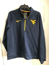 Nike Therma West Virginia Mountaineers Mens 1/4 Zip Blue/yellow Sz m