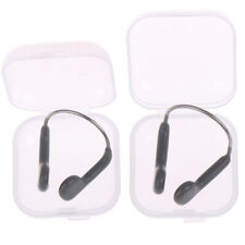 Adult/kids Swimming nose clip & case transparent cleaO_fd
