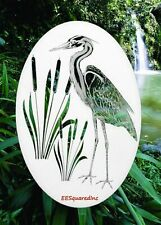 Egret Right Static Cling Window Decal OVAL 15x23 Bird Decor for Glass Doors