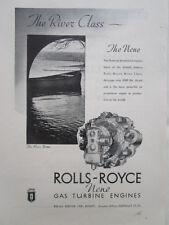 4/1946 PUB ROLLS-ROYCE RIVER NENE JET PROPULSION ENGINE ORIGINAL AD