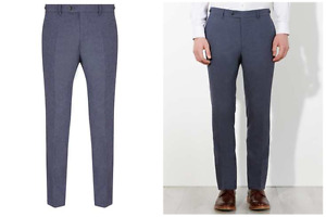 John Lewis & Co Talbot Milled Crossweave Tailored Trousers Size 32R £100 BNWT