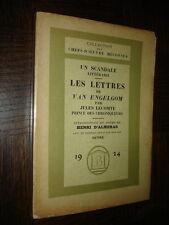 LES LETTRES DE VAN ENGELGOM - Par Jules Lecomte Prince des chroniqueurs - 1925