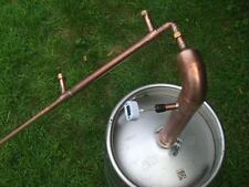 "Beer Keg Kit 2"" inch Pipe Copper Moonshine Still Pot Still Distillation Column"