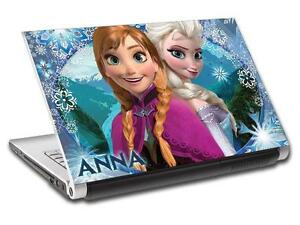 Frozen Anna & Elsa Personalized LAPTOP Skin Vinyl Decal Sticker WITH NAME L51