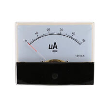 Dc 0 50ua Scale Range Current Panel Meter Amperemeter Gauge 44c2 Ammeter Analog