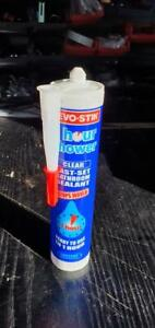 Evo-Stik 1 Hour Shower Sealant Clear 310ml x 2 Tubes Brand New Ready In 1 Hour