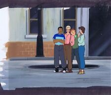 The Real Ghostbusters Production Animation Cel & Hand Painted Bkgd #A8410