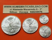 @RARE@ MEXICO 1/2 1/4 1/10 1/20 ONZA 1999 LIBERTAD UNC SILVER 4 COINS Oz Mejico