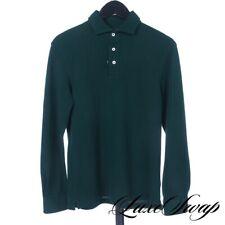 #1 MENSWEAR Kent Wang Billiard Green Pique Long Sleeve Spread Polo Shirt M #2