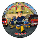 Fireman Sam Personalised Edible Icing Image Birthday Topper Cake Decoration
