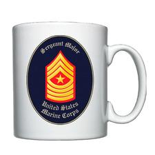 USMC - Marine Corps - Sergeant Major - Personalised Mug