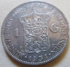 1931 Netherlands (WILHELMINA DUTCH) 1G ONE GULDEN SILVER COIN BETTER GRADE (W199