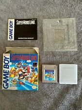 mint boxed super mario land nintendo game boy game all paperwork inserts