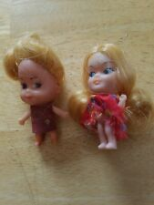 Two Vintage Liddle Kiddles or Clone Dolls 1960's
