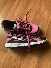 Very Nice Girl's Sneakers By Nike, Size 4.5y, Pink, White, Black, Euc