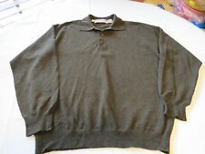 Jhane Barnes menswear long sleeve polo shirt Men's shirt M wool nylon GUC@