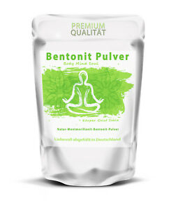Bentonit Pulver 500 g | 100% natürliche Mineralerde/Tonerde in Premium Qualität