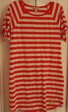 NWT Michael Kors Women's T-shirt Short Sleeve Dress Gold Logo M Coral Reff