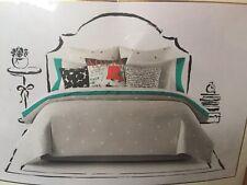 Kate Spade Deco Dot Platinum Gray Queen Full Comforter Set w/ pillow Case Shams