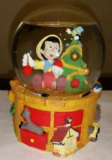 Disney Pinocchio And Jiminy Cricket Christmas Tree Musical Snow Globe by Enesco