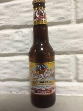 leinenkugels oktoberfest glass beer bottle empty  with cap