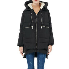 Womens Hooded Puffer Amazon Jacket Warm Down Padded Quilted Outwear UK