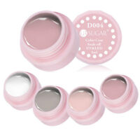 4 Farben Nackte Weiße LED UV Gel Nail Art Nagellack Farbe Acryl Tipps Dekoration