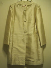"VTG 1960S GEORGE BROWN ORIGINALS GOLD SHANTUNG SILK MID LENGTH COAT-JACKIE ""O"""