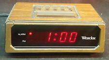Westclox 22644 Retro Wood Grain LED Alarm Clock, 0.6-Inch Digital Tested Working