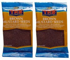 Brown Mustard Seeds - Cooking or Sprouting - 2 x 100g Bags - TRS Brand