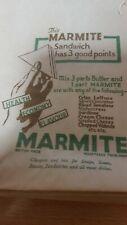 Vintage Marmite Paper Sandwich Bag  1940 50s original