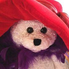 VTG Chantilly Lane Musical Singing Dancing Bear Plush Red Hat Society Collector