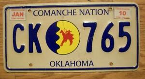 SINGLE COMANCHE NATION of OKLAHOMA TRIBAL LICENSE PLATE - 2010 - CK 765