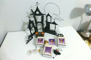 Hallmark Keepsake Halloween Haunted House w/Sounds and Halloween Ornaments