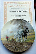 "Royal Doulton "" His Hand to the Plough "" by Spencer Coleman Shire Horses"