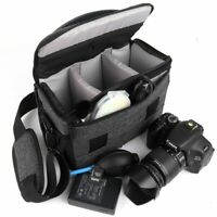 Large Thicken DSLR Camera Bag Shoulder Canon EOS Nikon Sony Lens Carry Case SLR