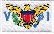 U.S VIRGIN ISLANDS FLAG - Iron On Embroidered Applique Patch, Symbol