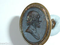 Victorian Intaglio wax Seal Fob Shakespeare Poet Actor Historical