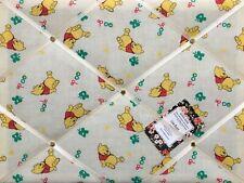 SALE Winnie The Pooh Handcrafted Fabric Notice Pin Memo Board Photo Cork 40x30cm