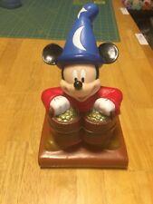 Disney Fantasia Sorcerer's Apprentice coin bank and Movie club collectors pin