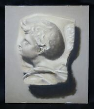 Original student oil painting Impressionistic still-life plaster bust 1of22